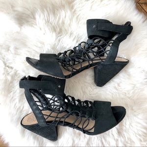 Vince Camuto Strappy Cage Sandals - 8.5